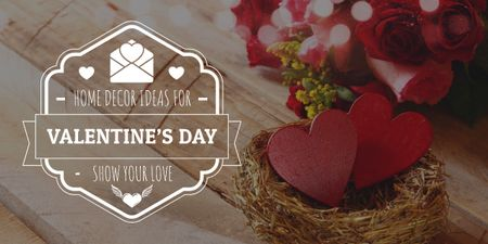 Ontwerpsjabloon van Image van Valentine's Day Offer Heart in nest