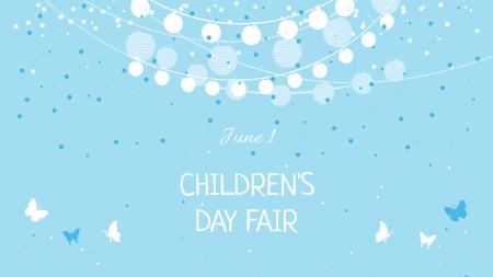 Plantilla de diseño de Children's Day Fair Announcement FB event cover