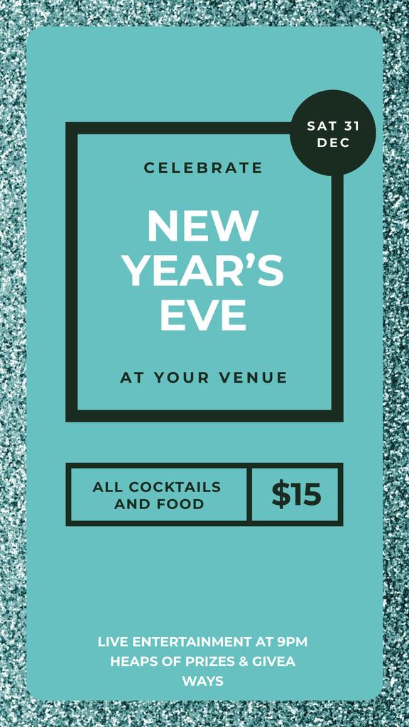 New Yea's Eve on Shiny glitter pattern — Створити дизайн