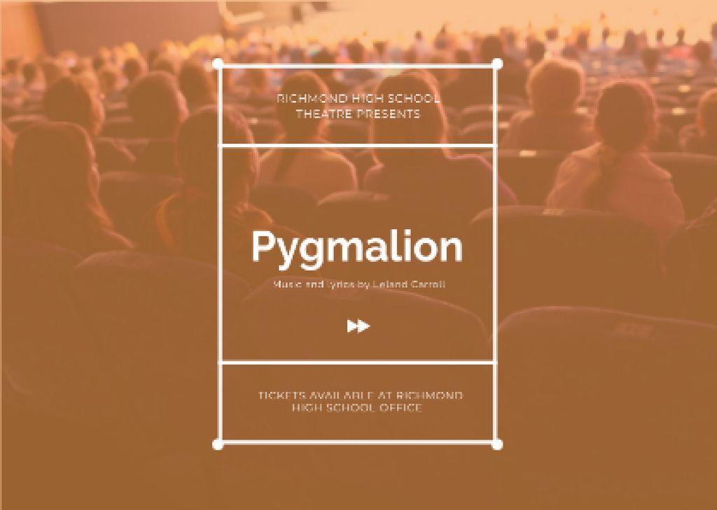 Pygmalion performance Announcement — ein Design erstellen