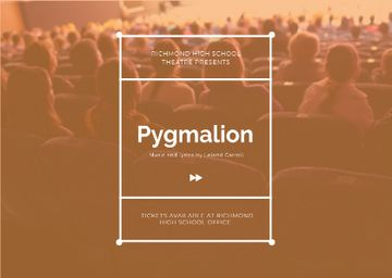 Pygmalion performance Announcement