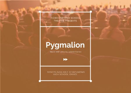 Ontwerpsjabloon van Card van Pygmalion performance Announcement