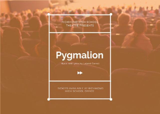 Pygmalion performance Announcement Card Modelo de Design
