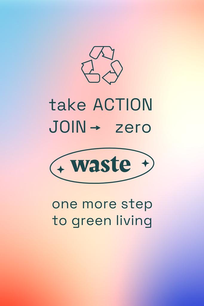 Plantilla de diseño de Zero Waste concept with Recycling Icon Pinterest