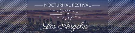Modèle de visuel Nocturnal festival Annoucement - Twitter