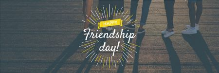Friendship Day Greeting Young People Together Email header Design Template