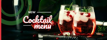 Plantilla de diseño de Glasses with iced drinks Facebook cover