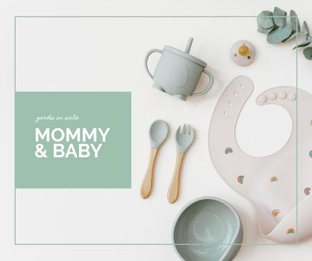 Template di design Cute Little Baby's Tableware Facebook
