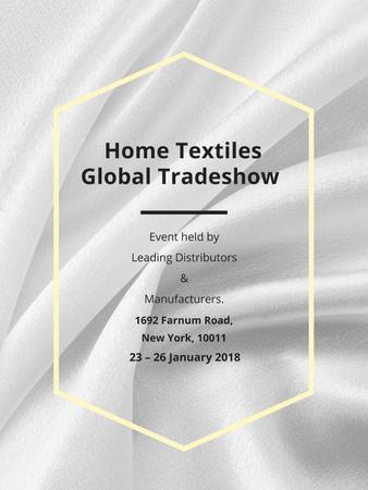 Home Textiles event announcement White Silk Poster US – шаблон для дизайну