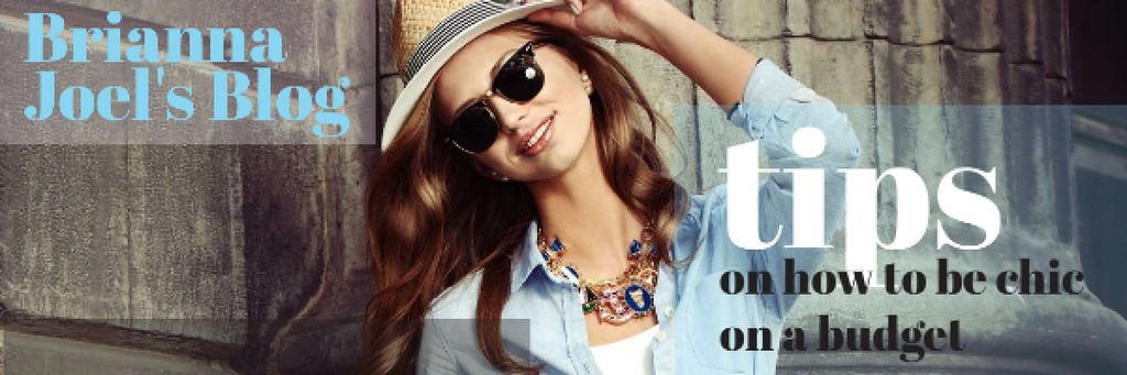 Blog Promotion with Stylish Woman Email header – шаблон для дизайна