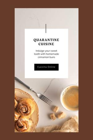 Tasty sweet cinnamon buns and Coffee Pinterest – шаблон для дизайна