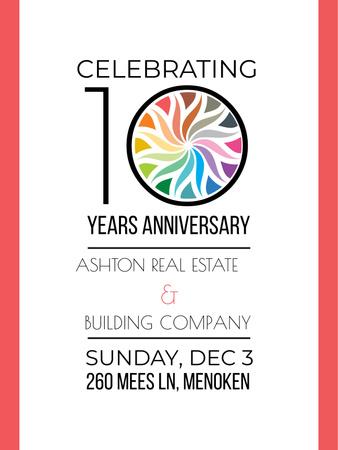 Plantilla de diseño de Celebrating company 10 years Anniversary Poster US