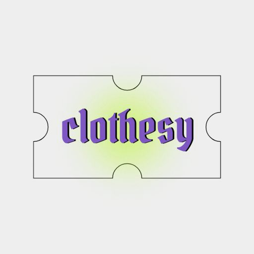 Clothing Store Ad With Tag Illustration