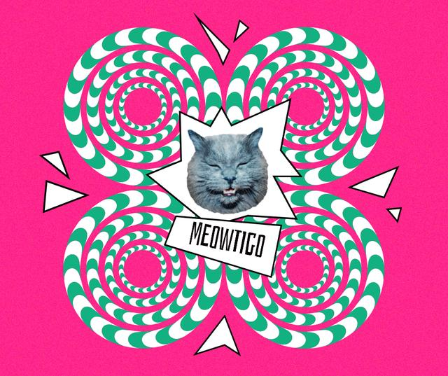 Funny Cat with Vertigo Illustration Facebook Modelo de Design