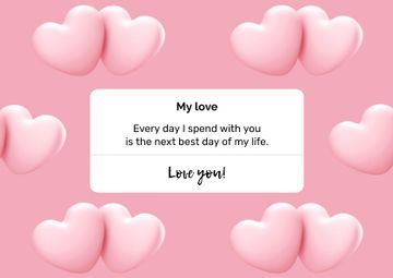 Valentine's Day greeting with Hearts