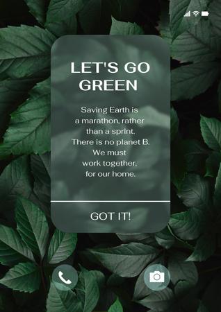 Eco Concept with Green Plant Poster Modelo de Design