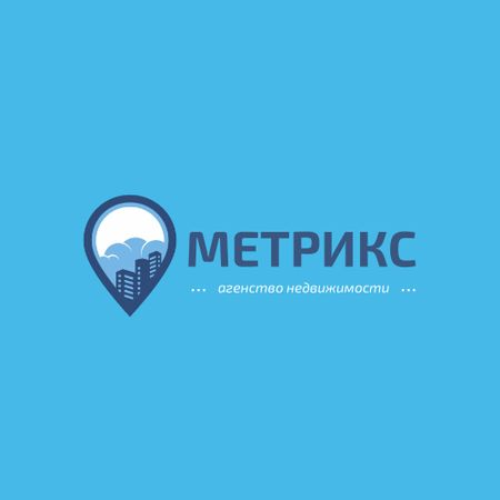 Real Estate Agency with City in Map Pin Animated Logo – шаблон для дизайна