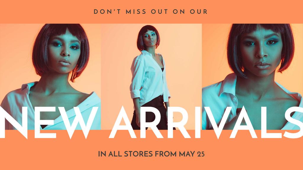 Modèle de visuel New Fashion Collection Announcement with Stylish Girl - FB event cover