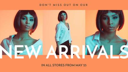 Plantilla de diseño de New Fashion Collection Announcement with Stylish Girl FB event cover