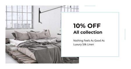 Furniture Sale Bedroom in Grey Color Facebook AD – шаблон для дизайну