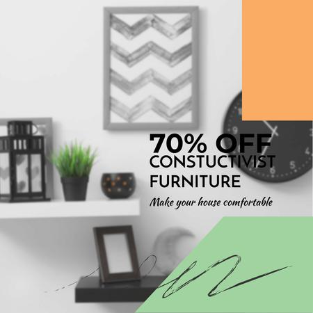 Constructivist Furniture Sale Instagram Design Template