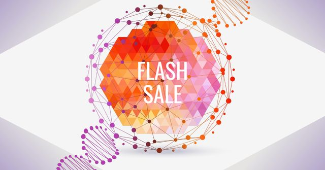 Flash Sale Ad with Abstract Circle Facebook AD – шаблон для дизайну