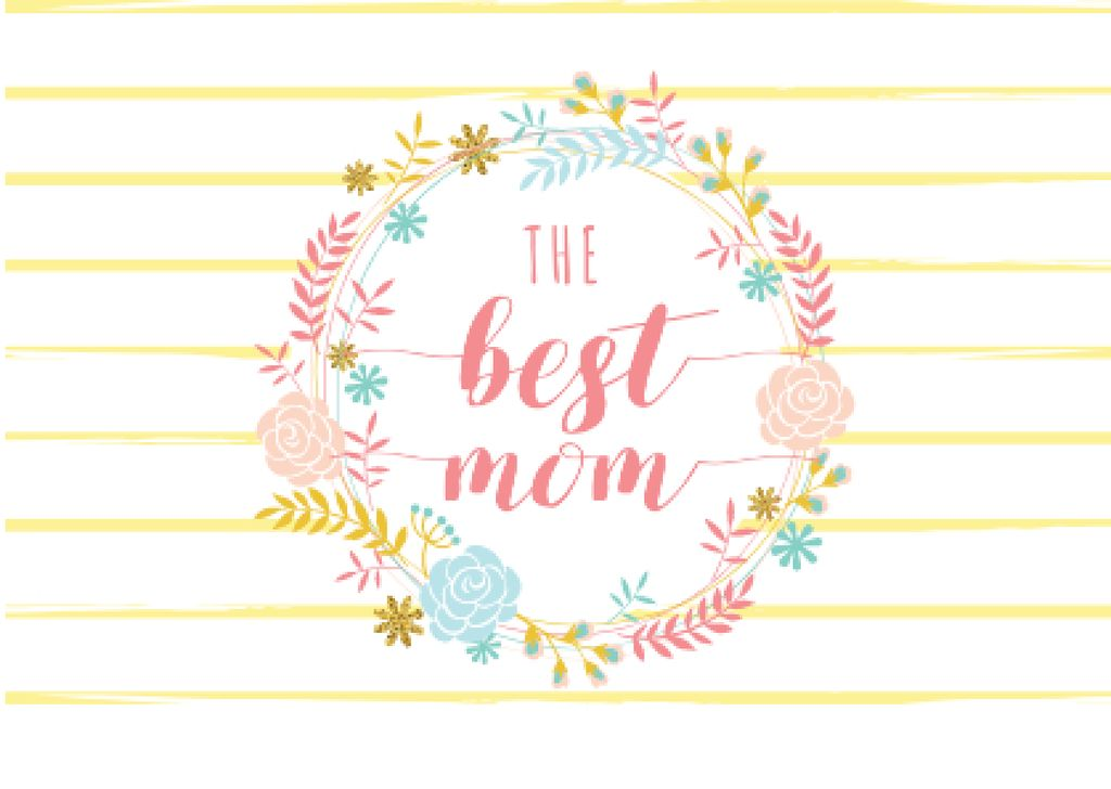 Mother's day greeting in Floral Circle — Crear un diseño