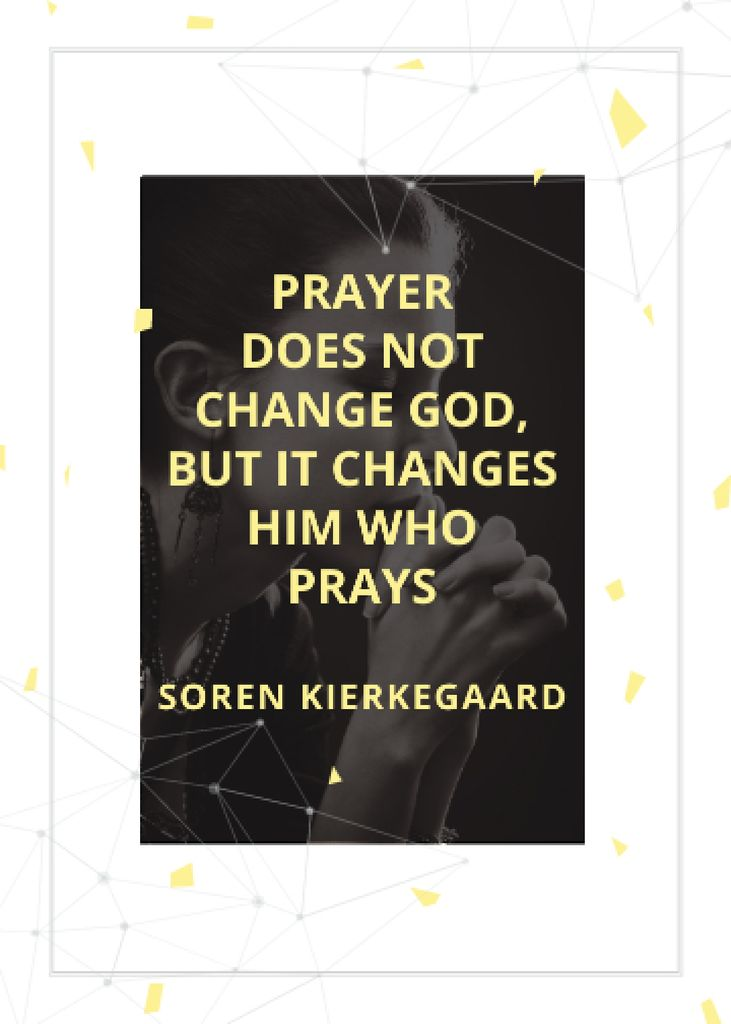 Plantilla de diseño de Religion Quote with Woman Praying Flayer
