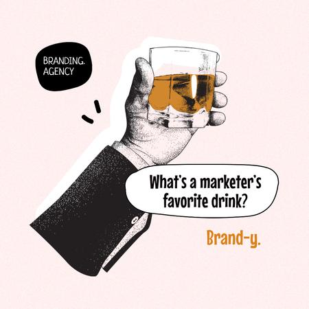 Ontwerpsjabloon van Instagram van Funny Branding Agency Promotion