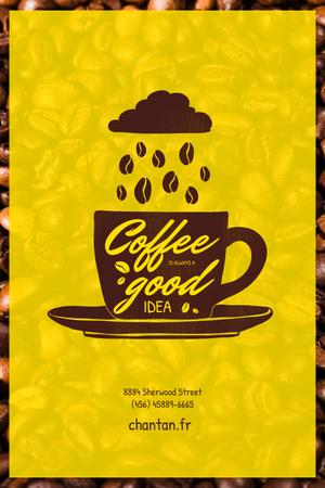 coffee Pinterest – шаблон для дизайна