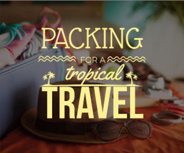 Plantilla de diseño de Packing for a tropical travel poster Medium Rectangle