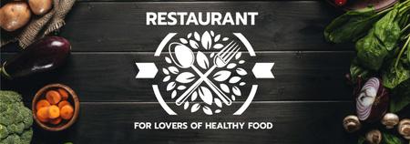 Healthy Food Menu with cooking ingredients Tumblr Modelo de Design