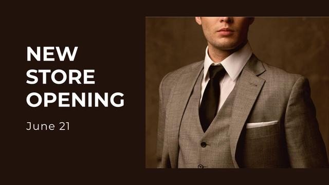Modèle de visuel New Clothes Store Opening Announcement - FB event cover
