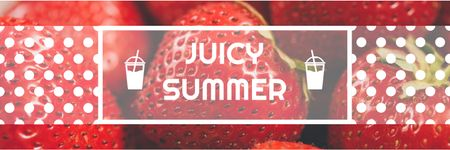 Summer Offer Red Ripe Strawberries Twitter Modelo de Design