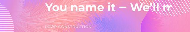 Szablon projektu Company slogan on pink Digital pattern LinkedIn Cover