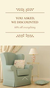 Furniture Sale Offer with Stylish Armchair