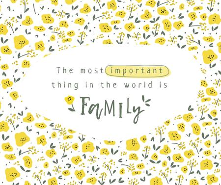 Plantilla de diseño de Family Day Inspiration with Cute Flowers Facebook