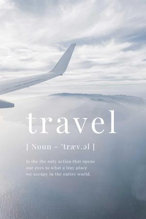 Plane in Sky with inspirational Quote Pinterest Modelo de Design