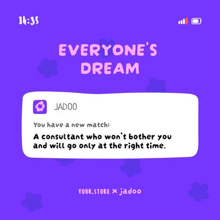 Ontwerpsjabloon van Instagram van Funny Joke with Message on Screen