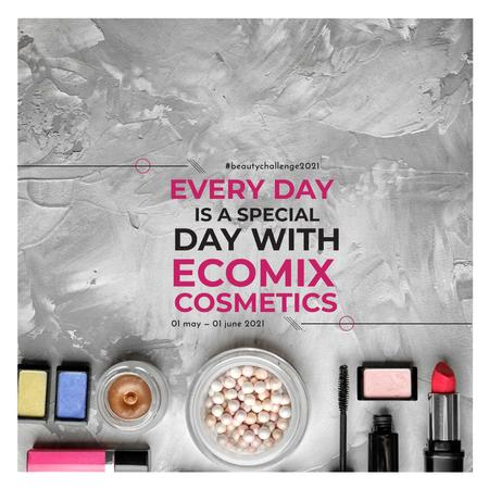 Plantilla de diseño de Makeup Brand Promotion with Cosmetics Set Instagram AD