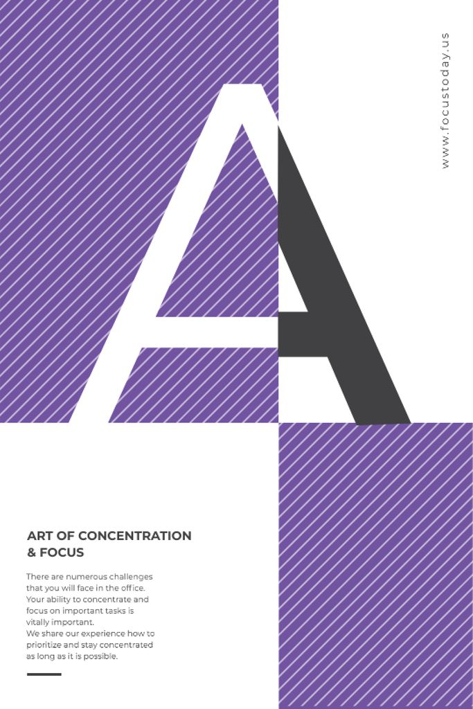 Event Announcement Letter A on Purple — Создать дизайн
