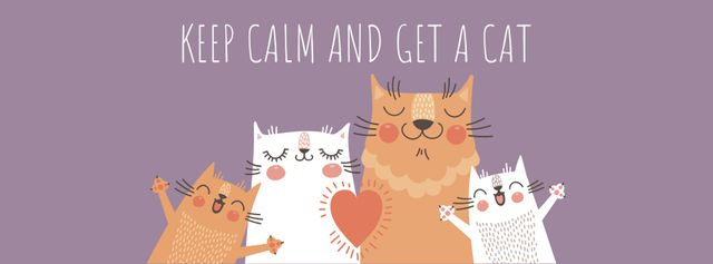 Ontwerpsjabloon van Facebook cover van Pet Show ad with Cute Cats