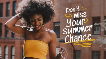 Summer Inspiration with Beautiful Girl in City Youtube Thumbnail – шаблон для дизайна