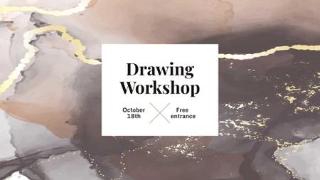 Drawing Workshop Announcement FB event cover – шаблон для дизайну