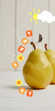 Summer Inspiration with Fresh Pears Graphic – шаблон для дизайна