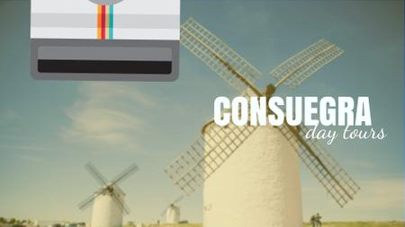 Consuegra Windmill Travelling Spots Full HD video Design Template