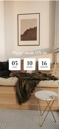 Cozy Home interior for Hygge concept Snapchat Moment Filterデザインテンプレート