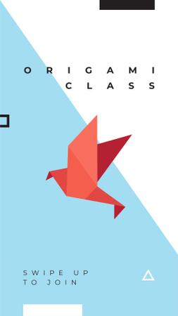 Ontwerpsjabloon van Instagram Story van Origami Learning Offer with Paper Bird