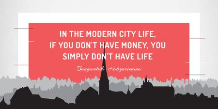 Designvorlage City Lifestyle quote on Buildings silhouettes für Image