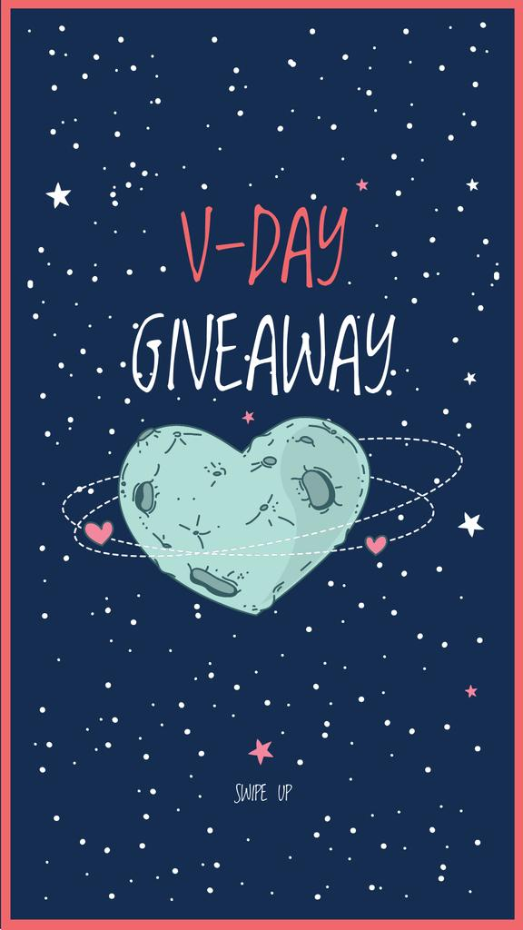 Valentine's Day Special Offer with Starry Sky Instagram Story – шаблон для дизайна